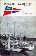 14 CALVADOS DEAUVILLE YACHY-CLUB SAISON 1964 BATEAU VOILIER - Boats
