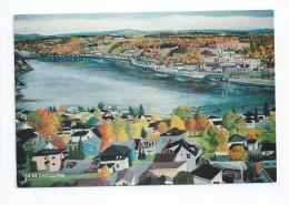CPSM Canada - Vue De Chicoutimi Acrylique Charles Grenon - Chicoutimi