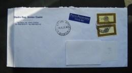 Italia 2000 Storia Postale Posta Prioritaria L. 1200 Coppia Su Busta - 6. 1946-.. Repubblica