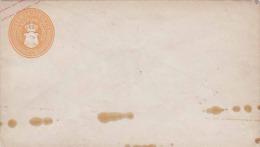 GROSSH.MECKLENB.SCHWERIN 186? - 3 Schillinge (gelb-orange) Ganzsache ** auf Kuvert