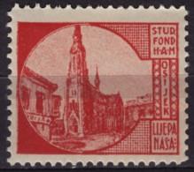 Croatia, Yugoslavia / Osijek Cathedral - 1930´s - Croatian Student Charity Stamp - Label / Cinderella MNH - Croatia