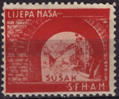 Croatia, Yugoslavia / Sušak (Fiume) Susak  - Croatian Student Charity Stamp - Label / Cinderella MNH - Croatia