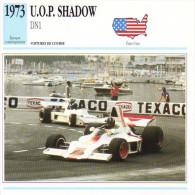 Fiche  -  Formula 1 Grand Prix Cars  -  UOP Shadow DN1  -  Pilote Graham Hill  -  Carte De Collection - Grand Prix / F1