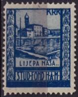 Croatia, Yugoslavia / KRK Veglia Cathedral Church - 1930´s - Croatian Student Charity Stamp - Label / Cinderella MNH - Croatia