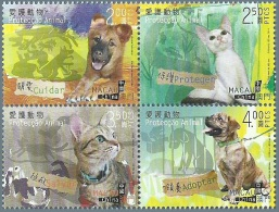 MAC1405 Macau 2014 Animal Protection Cat Dog 4v