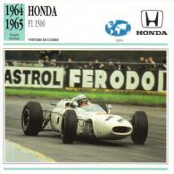 Fiche  -  Formula 1 Grand Prix Cars  -  Honda RA300  -  Pilote Ritchie Ginther  -  Carte De Collection - Grand Prix / F1
