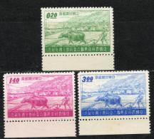 China Chine : (6110) 1958 Taiwan - Dixième Anniv De La Commission Conjointe Sur La Reconstruction Rurale SG291,293,294** - Chine