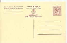 1967  2 Fr  Carte Postal Réponse Payée    Briefkaart Met Betaald Antwoord   Complet - Stamped Stationery