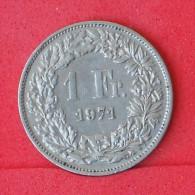 SWITZERLAND  1  FRANCS  1971   KM# 24a,1  -    (Nº06894) - Schweiz