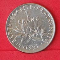 FRANCE  1  FRANC  1991   KM# 925,1  -    (Nº06911) - H. 1 Franc