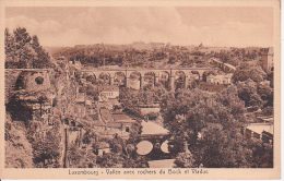 CPA Luxembourg - Vallée Avec Rochers Du Bock Et Viaduc (4322) - Luxemburg - Stadt