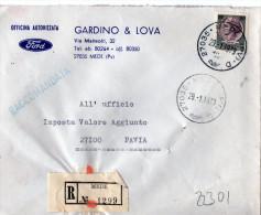 BUSTA   POSTALE PUBBLICITARIA--MEDE-PAVIA-DITTA GARDINO & LOVA-OFFICINA AUTORIZZATA FORD - 6. 1946-.. Repubblica