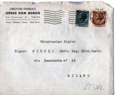 BUSTA   POSTALE PUBBLICITARIA- TORINO-OPERE DON BOSCO-DIREZIONE GENERALE - 6. 1946-.. Repubblica