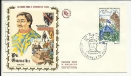 FDC ,1er Jour , 16.11.1968 , 0.40 F , DU GUESCLIN , CHATEAUNEUF DE RANDON , N° 1578 - FDC