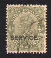 Inde 1912 Oblitéré Rond Used Stamp Overprint Imprimé Service Sur Roi George V - Indien