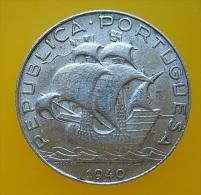 Portugal 2,5 Escudos 1940 Silver - Portugal