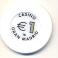 Casino Chip €1 Casino Gran Madrid, Spain - Casino