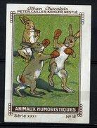 Nestlé - XXXI - Animaux Humoristiques, Humorous Animals - 12 - Hare, Boxing, Boxe - Nestlé