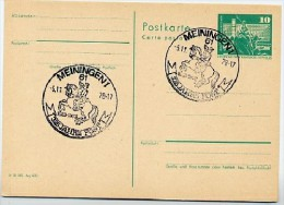 325 J. POST Meiningen POSTREITER 1978  Auf  DDR  Postkarte P 79 - Post