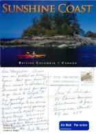 Buccaneer Bay, Thormanby Island, British Columbia, Canada Postcard Used Posted To UK 2012 Stamp - British Columbia