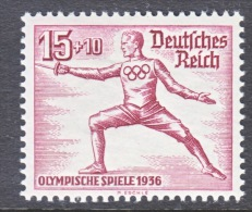 GERMANY   B 87  **  FENCING - Unused Stamps