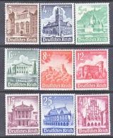 GERMANY   B 177-85  **  BUILDINGS SET - Unused Stamps
