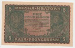 Poland 5 Marek 1919 UNC NEUF Banknote P 24 - Poland