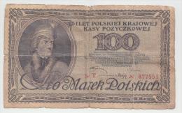 POLAND 100 MAREK 1919 G-VG P 17 - Poland