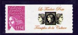 TIMBRE PERSONNALISE ADHESIF N° 3729D** AVEC LOGO PRIVE NEUF LUXE - France