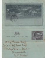 TASMANIE ENTIER 1903 INVERMAY (ENVIRON 200 HABITANTS ) ENTIER DEFAUT   -  LETTRE COVERS - FRAPPE SUPERBE - Covers & Documents