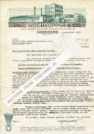 Brief 1935 LUDENSCHEID - PAUL HOCHKÖPPER & CO - Fabrik Elektronischer Installation-materialen - Allemagne
