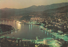 Croatia Dubrovnik Ragusa Gruž Gravosa At Night Postcard Used 1976 #549 - Croacia