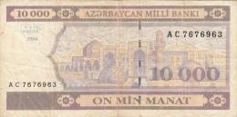 AZERBAIDJAN 10000 Manat 1994 VG+ P21b - Azerbaïdjan