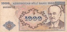 AZERBAIDJAN 1000 Manat 1993 VG+ P19b - Azerbaïdjan