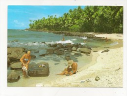 CPM Guyane  Iles Du Salut Plage St Joseph Pecheurs Ed Delabergerie Circulé TBE - Sin Clasificación