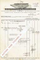 Rechnung 1938 WUPPERTAL-BARMEN - W. EUGEN FISCHER - Metallwarenfabrik - Allemagne