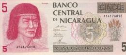 NICARAGUA 5 Cordobas 1991 UNC P174 - Nicaragua