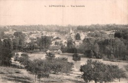 02 LONGUEVAL VUE GENERALE CIRCULEE 1917 - Autres Communes