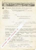 Brief 1935 WUPPERTAL-OBERBARMEN  - ROBERT ZINN, ENGELS & CO - Qualitäts Walzwerke Für Eisen, Sthal, Messing Und Zink - Allemagne