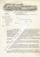 Brief 1933 CHEMNITZ-REICHENHAIN - MAXS HAAS - Faradit-isolierrohrwerke - Allemagne