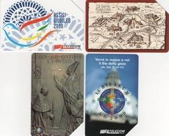 USATE-714/916/1111/1156-TELECOM ITALIA- SERIE GIUBILEO 2000-4 SCHEDE - Pubbliche Figurate Ordinarie