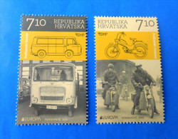 EUROPA CEPT 2013 . - Postal Vehicles ( Croatia - 2. Stamps MNH** ) Post Motorcycle Post Truck Poste Camion - Trucks
