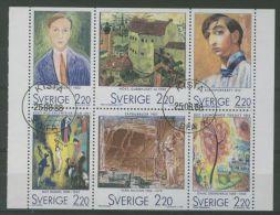 SWEDEN 1988 ARTISTS IN PARIS ART PANE USED - Usati