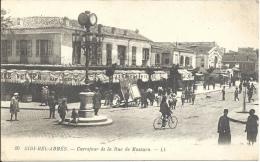 ALGÉRIE - SIDI-BEL-ABBÈS - Carrefour De La Rue De Mascara - Sidi-bel-Abbes