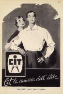 # CAMICIE CIT MILANO 1950s Advert Pubblicità Publicitè Reklame Shirts Chemises Camisetas Hemden - Signore