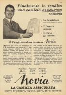 # NOVIA CAMICIE  SABIM MILANO 1950s Advert Pubblicità Publicitè Reklame Shirts Chemises Camisetas Hemden - Signore
