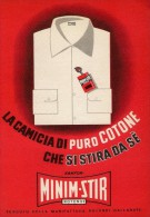 # CAMICIE MINIMSTIR ROTONDI GALLARATE 1950s Advert Pubblicità Publicitè Reklame Shirts Chemises Camisetas Hemden - Signore