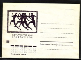 Sport Spartakiada Athletics Running 1971 Lithuania USSR Mint Cover #4141 - Lituania
