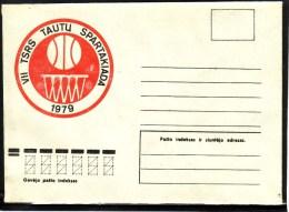 Sport USSR Spartakiada Basketball 1979 Lithuania USSR Mint Cover #4121 - Baloncesto