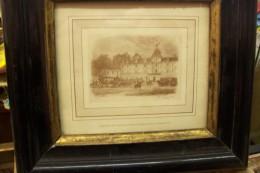 Arrivée De Sa Majesté La Reine Victoria Au Château D´eu.2 Septembre 1843.encadrement Nap III. - Engravings
